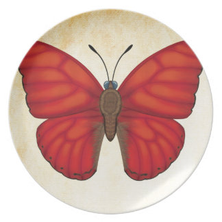 Blood Red Glider Butterfly Plate