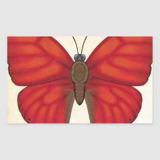 Blood Red Glider Butterfly Rectangular Sticker