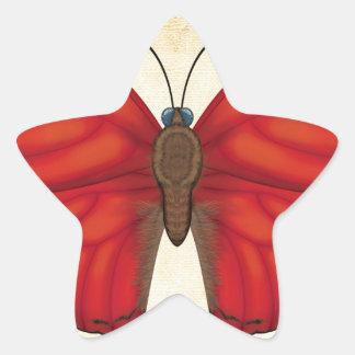 Blood Red Glider Butterfly Star Sticker