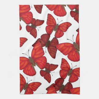 Blood Red Glider Butterfly Tea Towel
