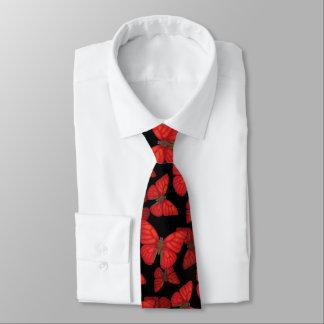 Blood Red Glider Butterfly Tie
