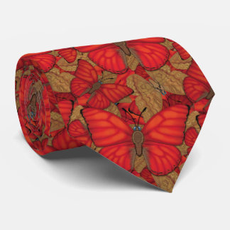 Blood Red Glider Butterfly Tie