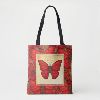 Blood Red Glider Butterfly Tote Bag