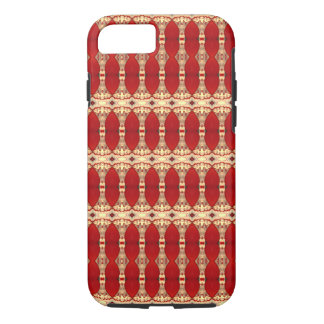 Blood Red Greek Sparta City Abstract Art Columns iPhone 7 Case