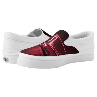 Blood Red Narrows Z slipons Slip On Shoes