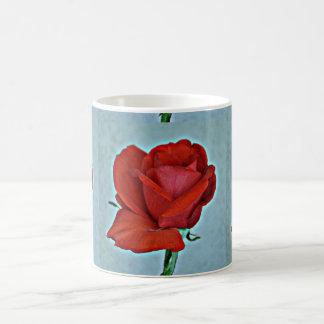 Blood Red Rose Coffee Mug