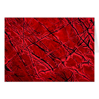 BLOOD RED ROYALE (an abstract art design) ~ Greeting Card