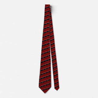 Blood Red Shark Striped Tie