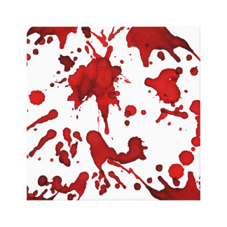 BLOOD RED SPLATTER COLLAGE PRINT