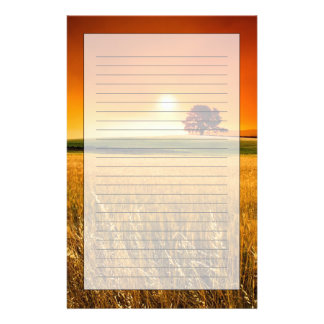 Blood-Red Sunset Stationery