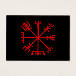 Blood Red Vegvísir (Viking Compass) Business Card