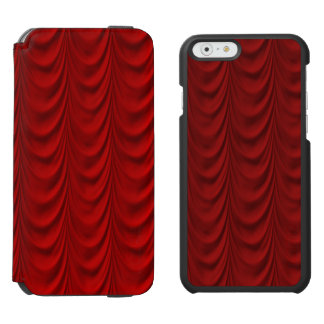 Blood Red Velvet and Black Lace Plush Fabric Incipio Watson™ iPhone 6 Wallet Case