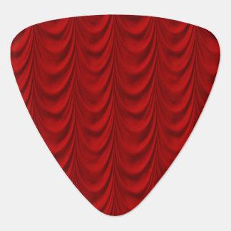 Blood Red Velvet and Black Lace Plush Fabric Plectrum