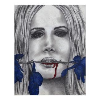 Blood Roses Vampire Original Art Photo Print
