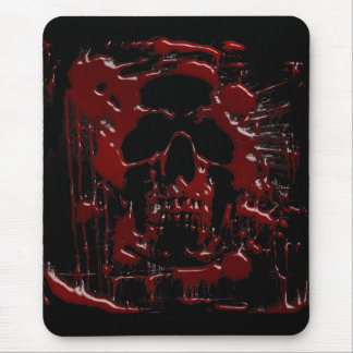 Blood Skull Mouse Pad