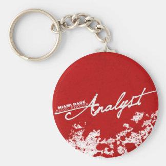 Blood Spatter Analyst Basic Round Button Key Ring