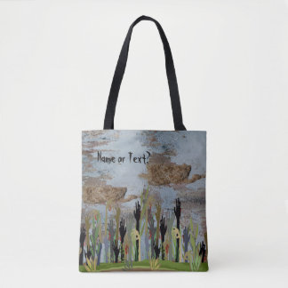Blood-spattered Zombie Hands Tote Bag
