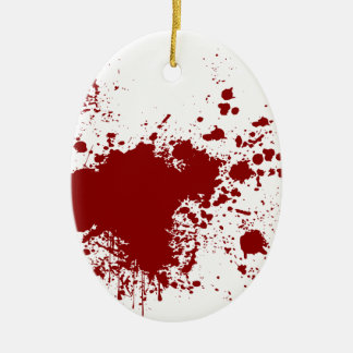 Blood Splash Ceramic Oval Decoration