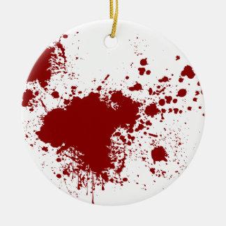 Blood Splash Round Ceramic Decoration