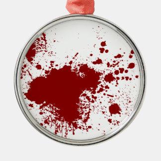 Blood Splash Silver-Colored Round Decoration