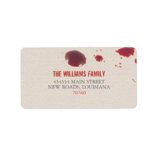 Blood Splatter   Halloween Label