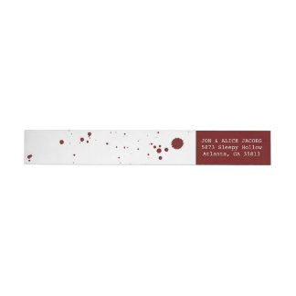 Blood Splatter Halloween Wrap Return Address Label Wraparound Return Address Label