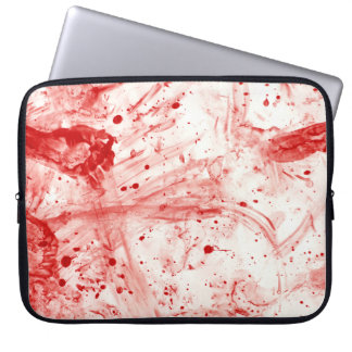 Blood Splatter Mess Laptop Sleeve