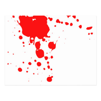 Blood Splatter Postcard