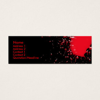 Blood Splatter Profile Card
