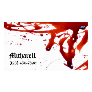 Blood Splattered Business Card