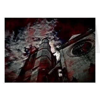 Blood splattered cathedral card