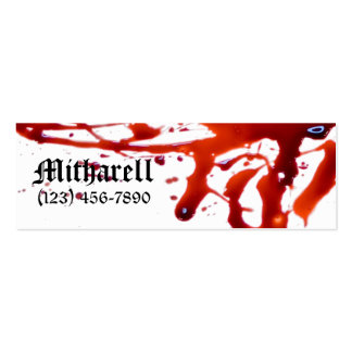 Blood Splattered Skinny Business Card