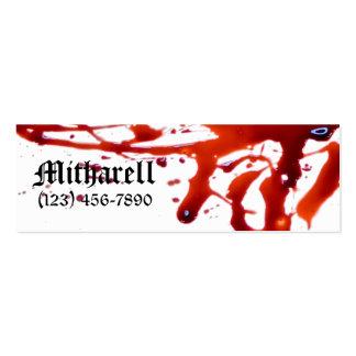 Blood Splattered Skinny Business Card