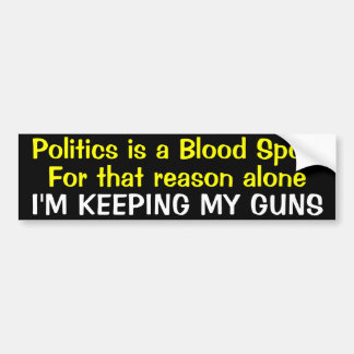 Blood Sport Bumper Sticker