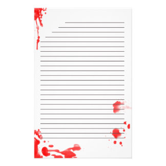 Blood Stained Stationary Stationery
