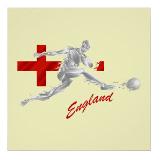 Blood Sweat and England - football fans gifts Poster