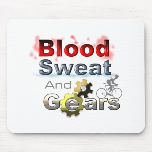blood sweat and gears mouse mats