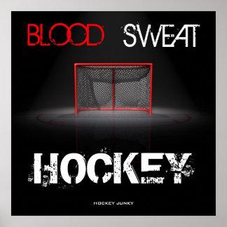 BLOOD SWEAT HOCKEY POSTER