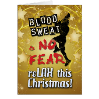 Blood Sweat & No Fear Lacrosse Christmas Card