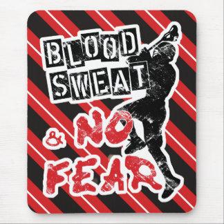 Blood Sweat & No Fear Lacrosse Mousepad