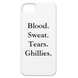 BLOOD. SWEAT. TEARS. GHILLIES. iPhone 5/5S Case
