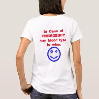 Blood type Wine - T-shirt Fun Stuff