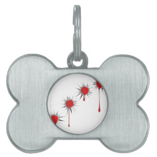 Blooded Bullet Holes Pet Tag