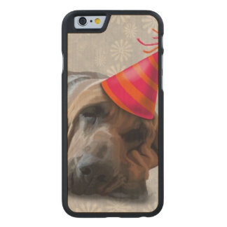 Bloodhound After the Party Carved Maple iPhone 6 Case