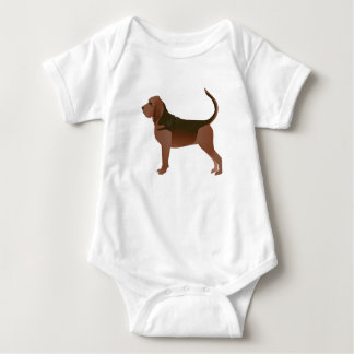 Bloodhound Basic Breed Illustration Silhouette Baby Bodysuit
