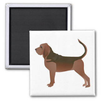 Bloodhound Basic Breed Illustration Silhouette Magnet