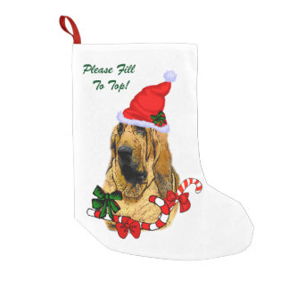 Bloodhound Christmas Small Christmas Stocking