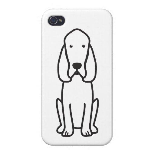 Bloodhound Dog Cartoon iPhone 4 Case