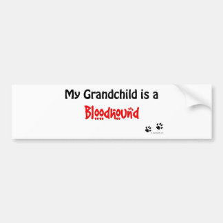Bloodhound Grandchild Bumper Sticker