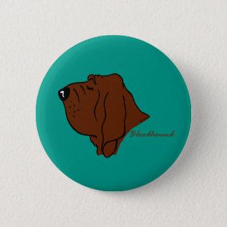 Bloodhound head silhouette 6 cm round badge